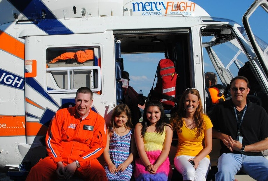 Hope came in the form of a Mercy Flight helicopter for young girls, Maddy and Tori