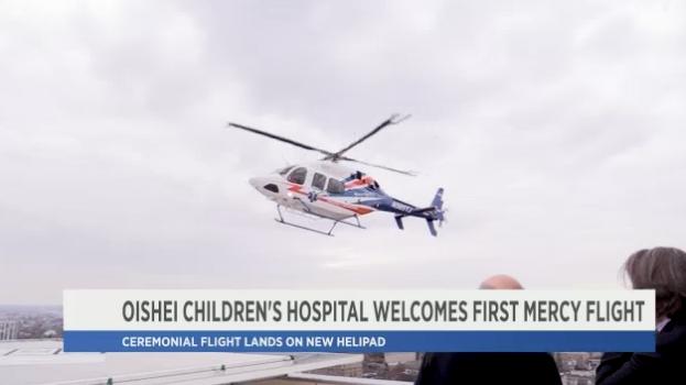 Oishei Children's Hospital welcomes first Mercy Flight